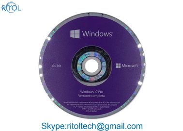 İtalyanca Windows 10 Pro 32 Bit OEM, DVD Profesyonel Windows 10 Pro 64 OEM
